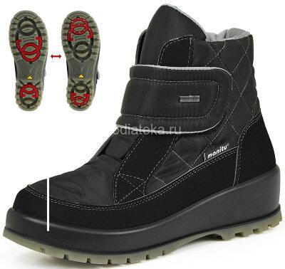 Ботинки женские MANITU PolarTex с шипами