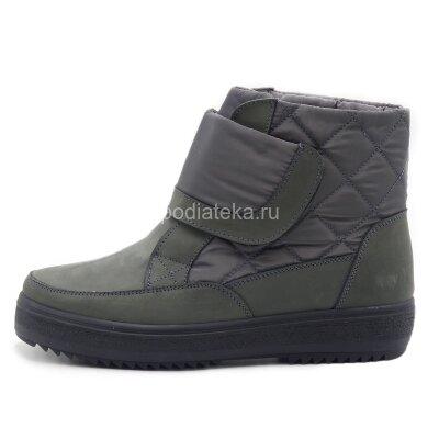 Dr.Spektor ботинки зимние женские с ледоходами DSM-1140, серый
