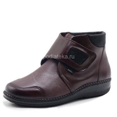 Axel ботинки женские, для косточек, широкие и мягкие, бордо