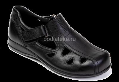 OrthoMS сандалеты очень широкие, 5011, черный